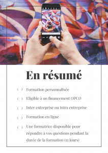 Formation instagram e learning